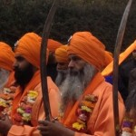 Panj Pyarey (five beloved ones) leading the 2013 Nagar Kirtan