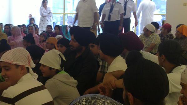 New Punjabi School - surprise visit from Malkit Singh