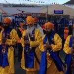 Panj Pyarey (five beloved ones) leading the Nagar Kirtan