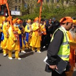 Panj Pyarey (five beloved ones) leading to Guru Ravidass Bhawan